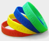 Connection Turns Me Into We = Synergy Wristbands in Four Colors
